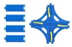 Синие рельсы и стрелки