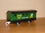 Почтовый вагон зеленый Б/У