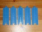Синие рельсы 1/2 стандартной 5 шт. Б/У