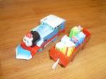 Паровоз Томас со снегоочистителем и подарками Б/У