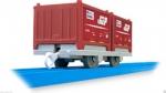 Вагон с красными контейнерами НОВЫЙ